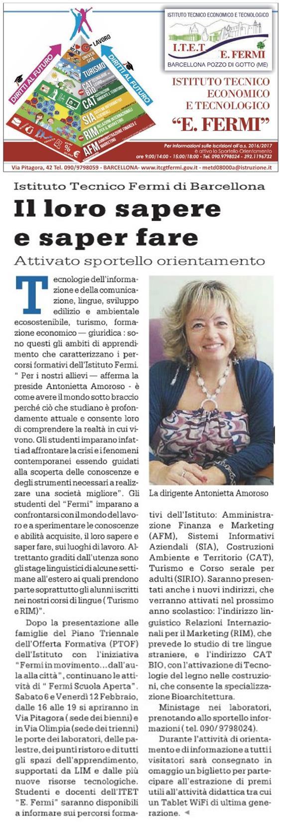 30_01_2016 - Articolo Gazzetta del Sud