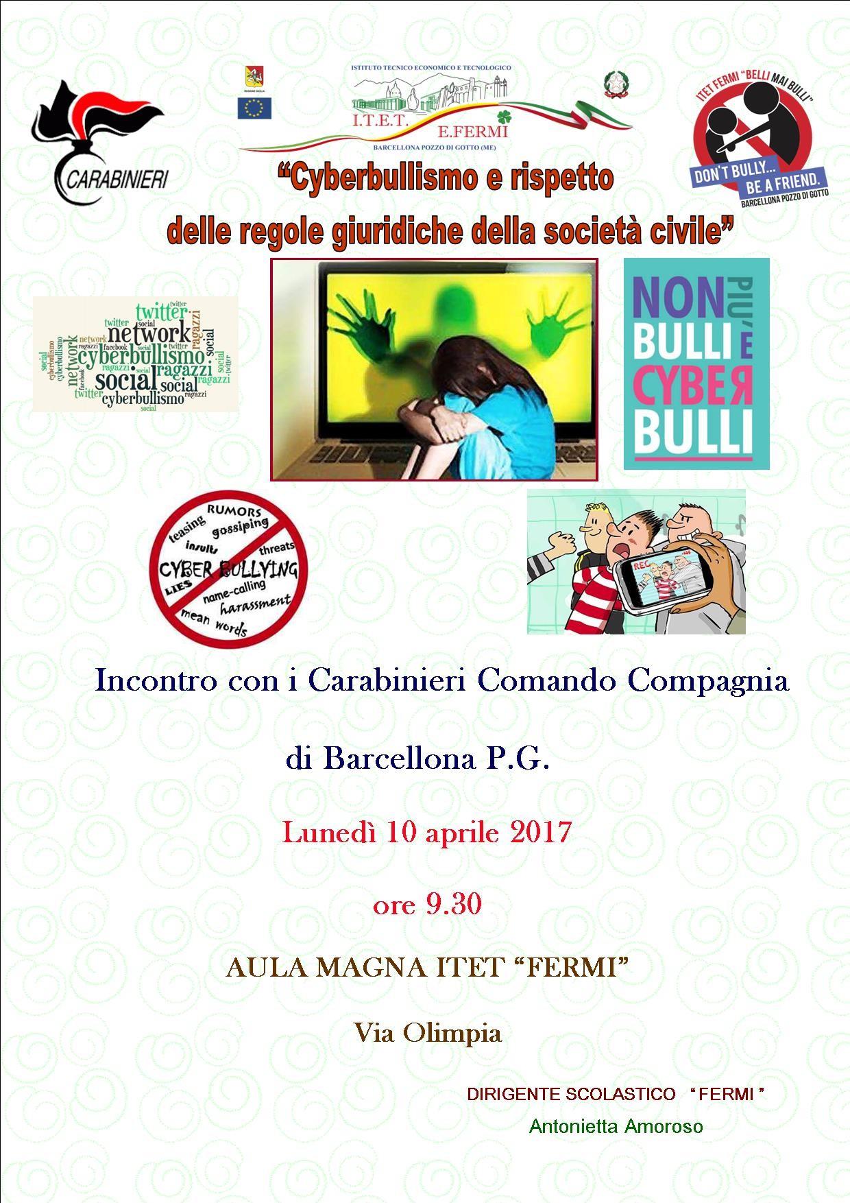 Incontro con i Carabinieri - Cyberbullismo